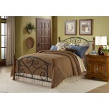 Doral Bed w Matte Black / Walnut Finish by Fashion Bed Group | Xiorex