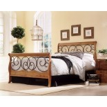 Dunhill Bed in Autumn Brown / Honey Oak Finish by Fashion Bed Group