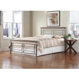 Fontane Bed w Cherry Metal/Silver Finish by Fashion Bed Group | Xiorex