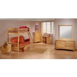 Bunk Beds with Futon Night and Day Cinnamon Futon Bunk Beds | Xiorex