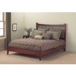 Jakarta Bed Contemporary Bed in Mahogany & Black | Fashion Bed Group