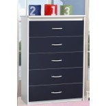 Kids Chests Life Line Tango 5 Drawer Bedroom Chests for Kids | Xiorex