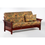 Night and Day Autumn Futon in Chocolate Honey Oak Natural Rosewood