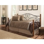 Leggett & Platt Doral Daybed w/ Walnut Rubber Wood Posts | Xiorex