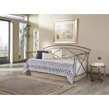 Leggett & Platt Libra Daybed - Metal Twin Daybed in Rustica Finish