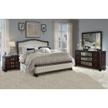 Lyra Modern Bedroom Collections w/ Tufted Leather Heaboard & Footboard