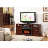 Merrill Entertainment Fireplace w Widescreen Curved Firebox | Xiorex