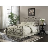 Papillon Bed Metal Bed in Brushed Bronze Finish by Fashion Bed Group