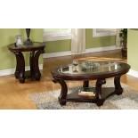 Perseus Glass Top Wooden Coffee Table Set Montreal | Xiorex