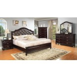 Platform Bedroom Furniture Set with Leather Headboard 146 | Xiorex