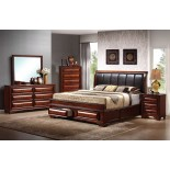 Platform Bedroom Furniture Set with Leather Headboard Beds 115 | Xiorex