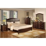 Platform Bedroom Furniture Set with Leather Headboard 133 | Xiorex