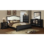 Platform Bedroom Furniture Set with Leather Headboard 135 | Xiorex