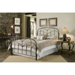 Pomona Bed Metal Bed w Hazelnut Finish by Fashion Bed Group | Xiorex