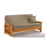 Night and Day Portofino Futon Sofabed Honey Oak Natural Rosewood Teak