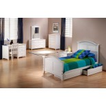 White Bed for Girls Night and Day Sandpiper Bed with Trundle | Xiorex