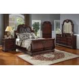 Sleigh Bedroom Furniture Set with Leather Headboard 119 | Xiorex