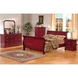 Louis Phillip Sleigh Platform Bedroom Furniture Set 168 | Xiorex