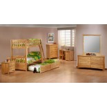 Night and Day Cinnamon Bunk Bed Twin Twin Bunk Bed Set | Xiorex Bunkbeds