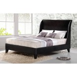 Upholstered Platform Bed Furniture with Curved Headboard 186 | Xiorex