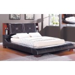 Upholstered Bookcase Panel Platform Bed Furniture 188 | Xiorex