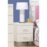 White Bedside Table Life Line Priscilla 2-Drawer Bedside Table | Xiorex