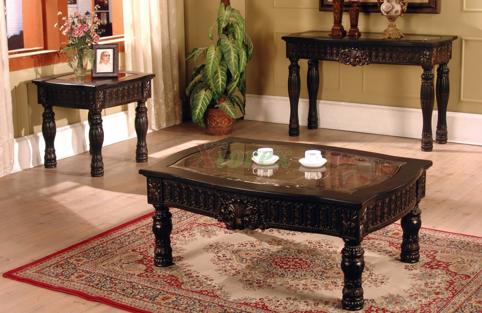 Ajax coffee and end table living room furniture set xiorex Living room coffee table sets