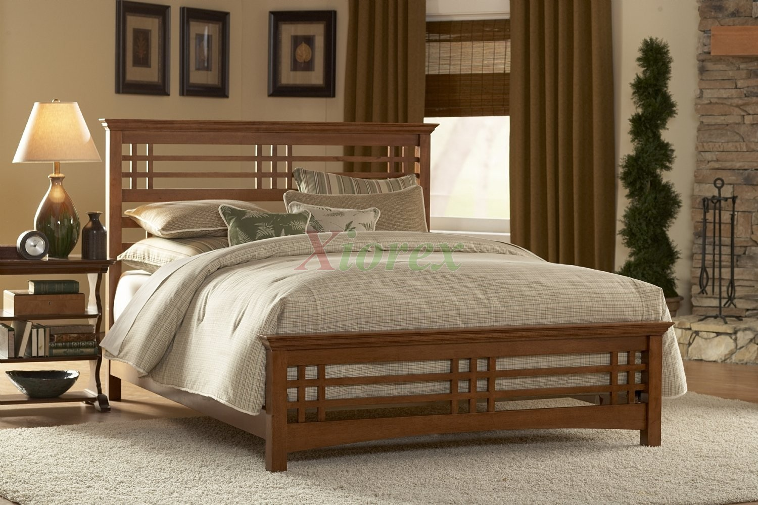 Avery Slat Bed Oak Stain Bed By Fashion Bed Group Xiorex