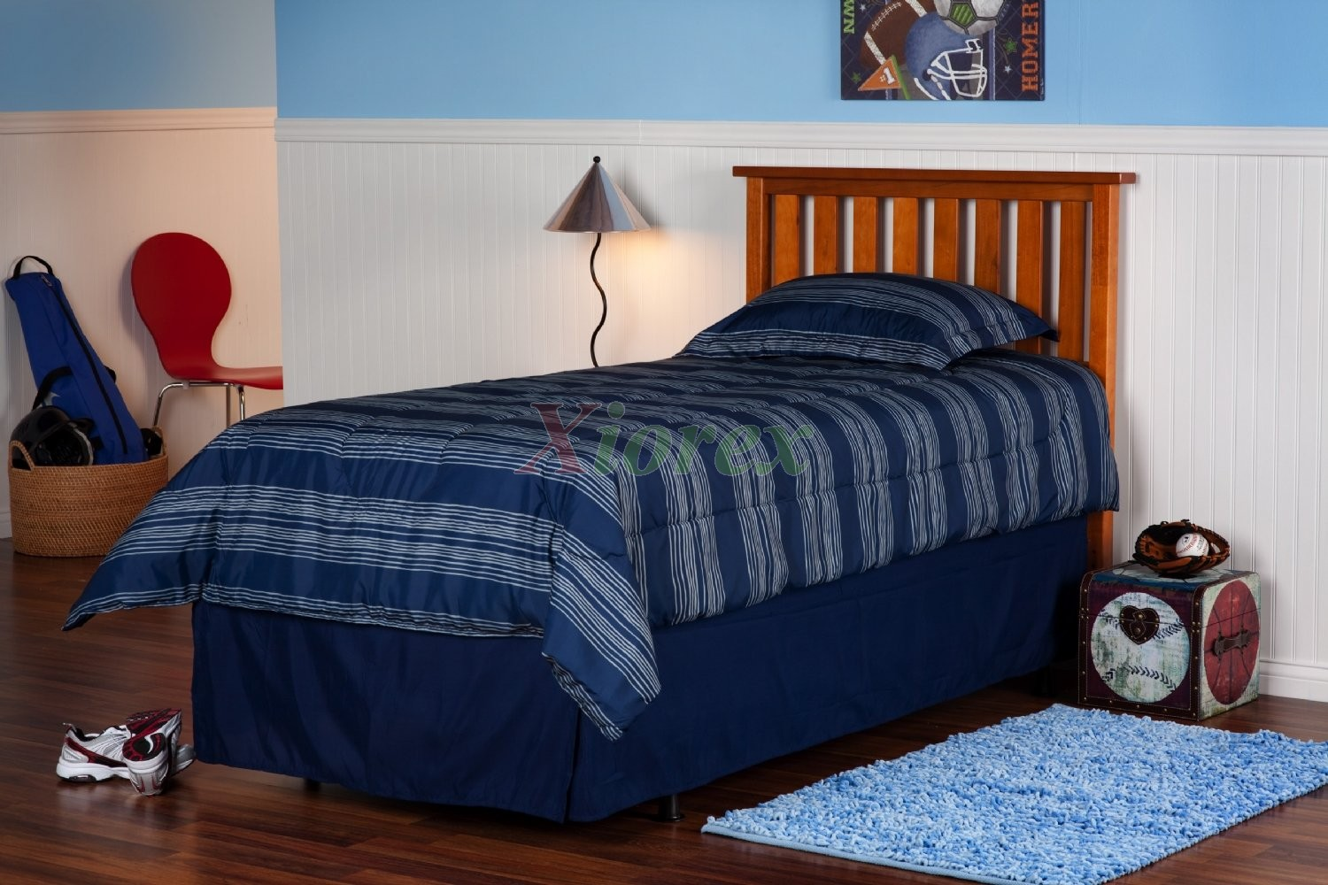 Wood Bed Headboards ~ Belmont headboard slatted wood for twin full
