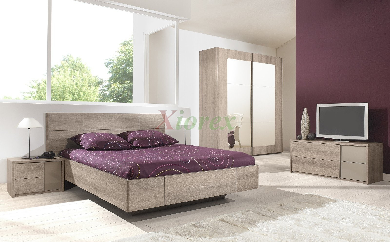 European bed quadra gami european bed sets xiorex for Bedroom furniture with mattress