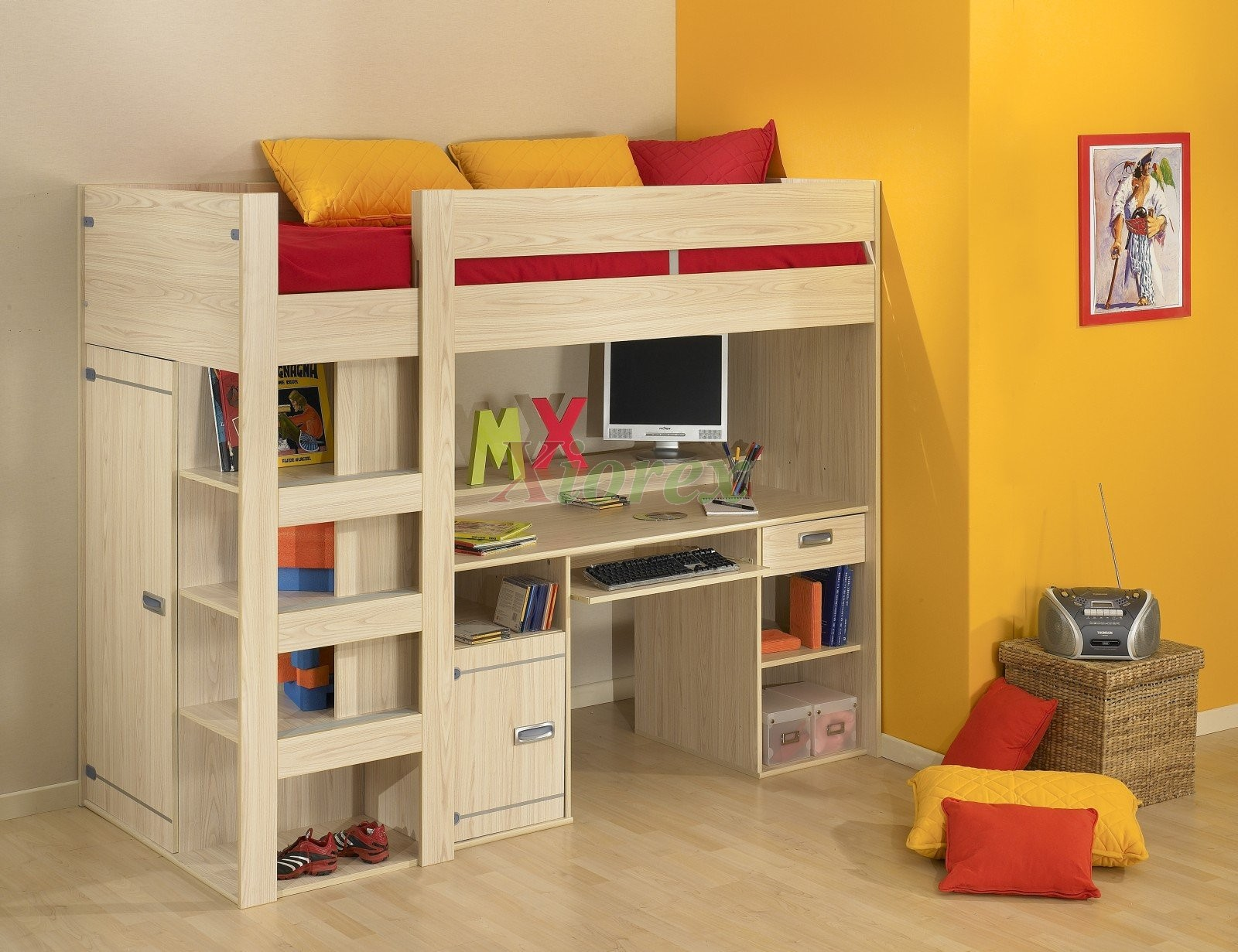 Kids Bunk Bed with Desk 1600 x 1231