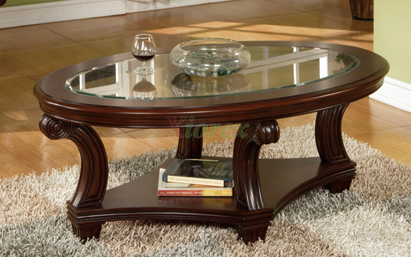 Perseus Glass Top Oval Coffee Table Montreal Xiorex