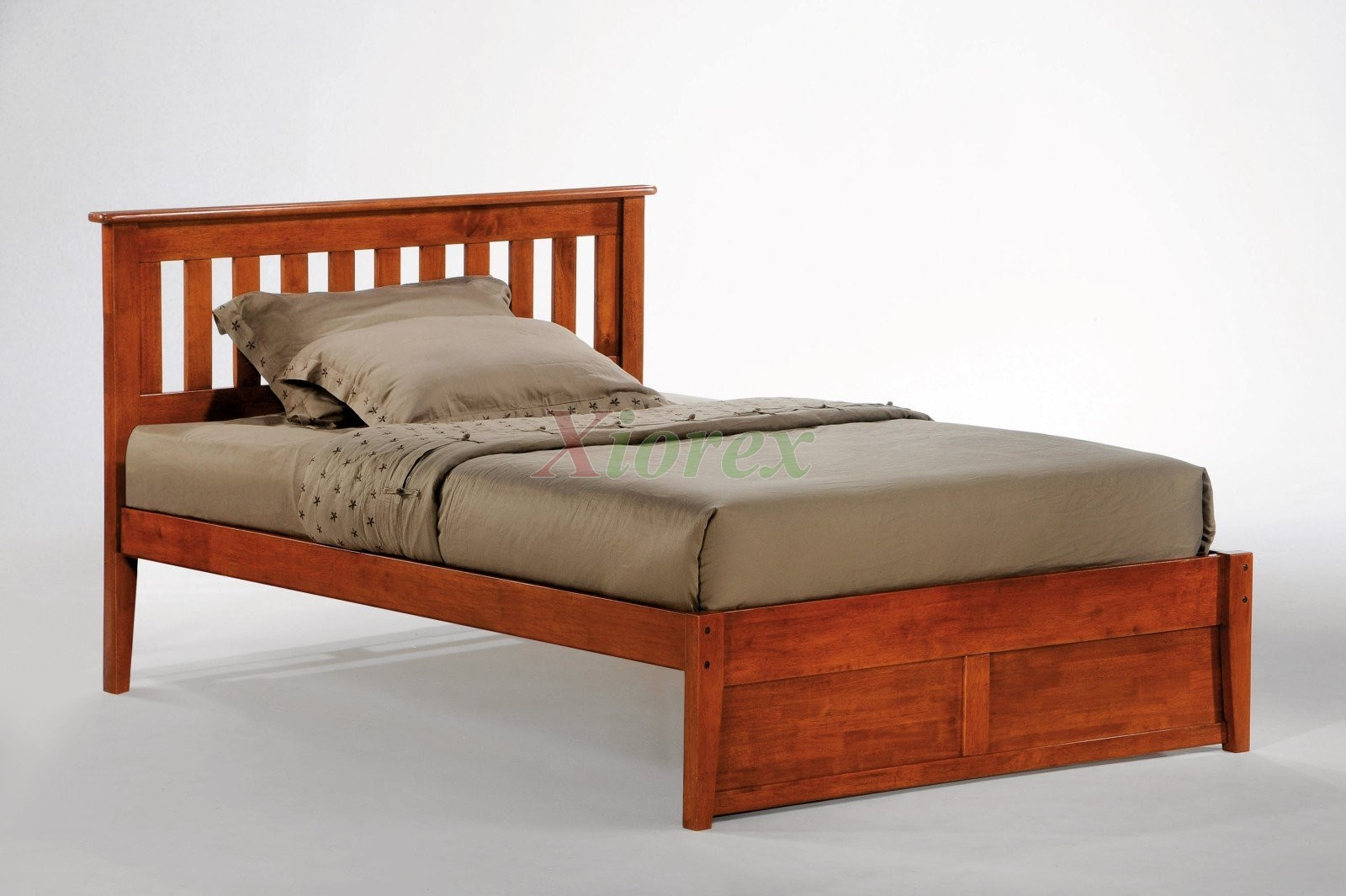 Night and day rosemary bed platform bed w slat headboard for Platform bed