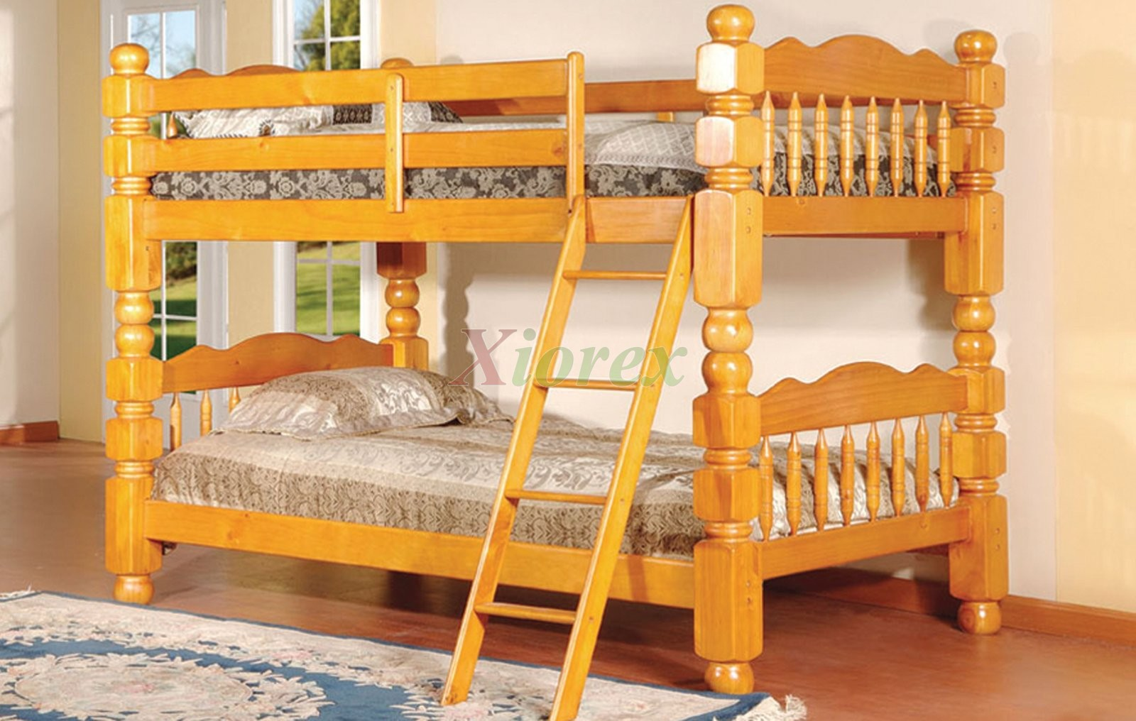 Full size bed and twin bed in loft - Acubens Heavy Duty Bunk Beds For Kids With Short Posts