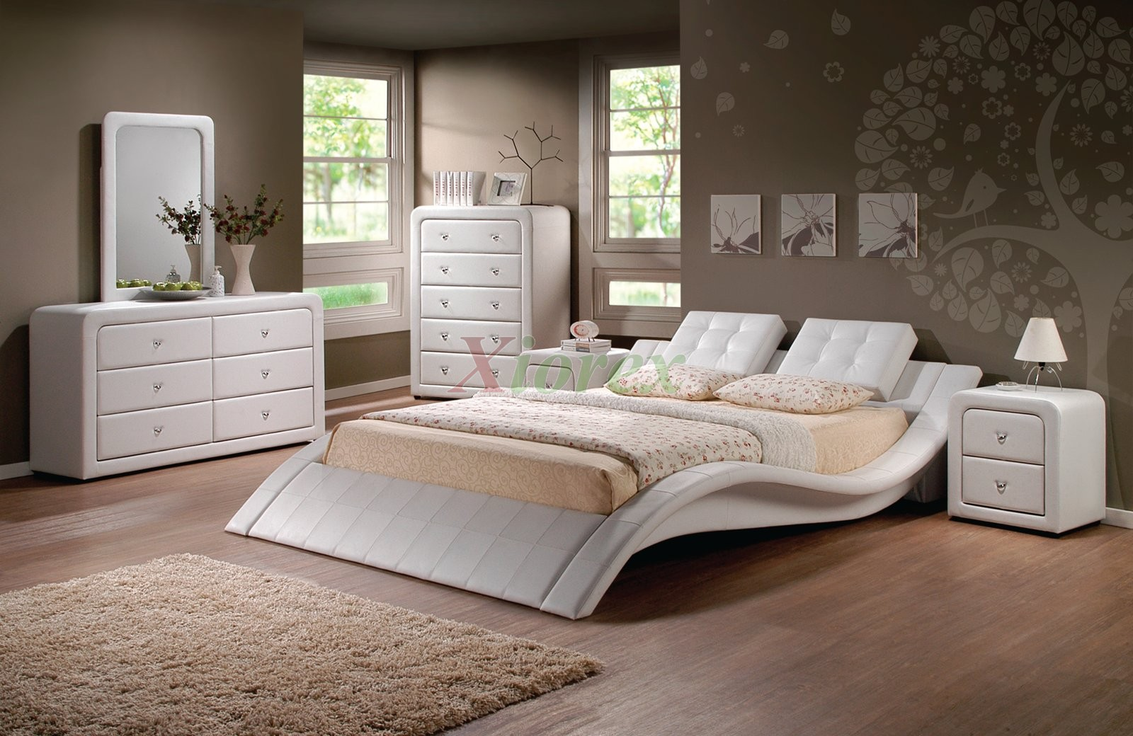 Modern Upholstered Platform Bedroom Furniture Set 152
