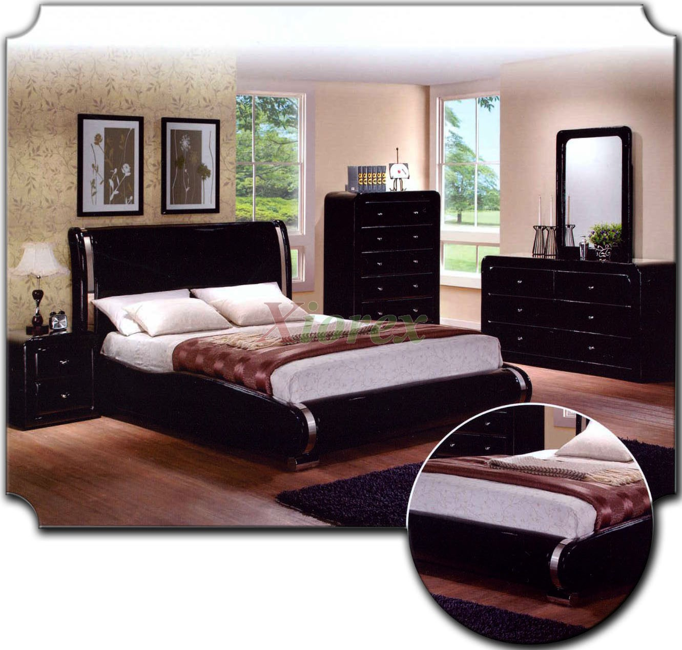 Upholstered platform bedroom furniture set 153 xiorex for Bedroom set deals