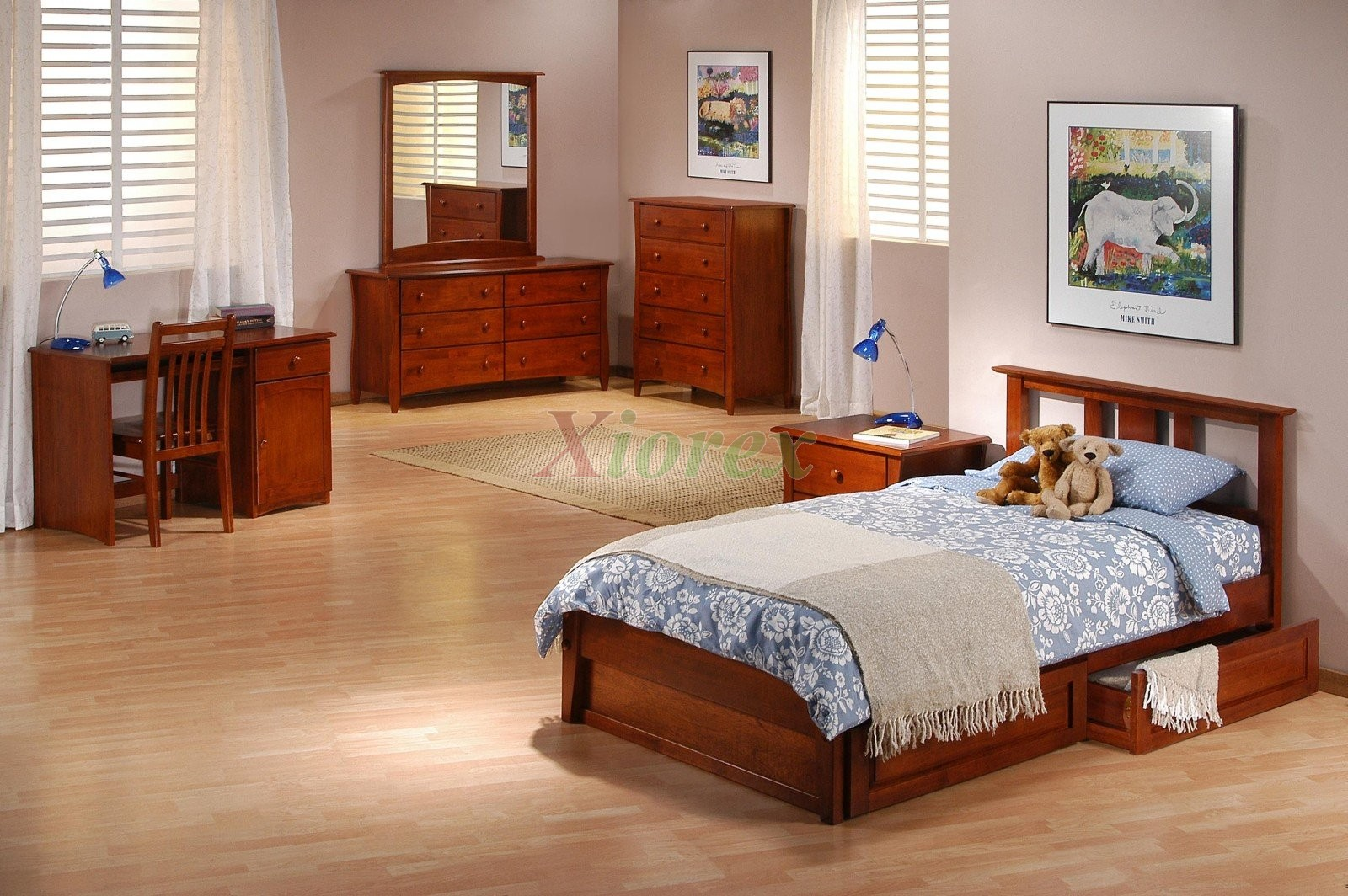 Wood bed set night and day thyme bed set w spices thyme for Womens bedroom furniture