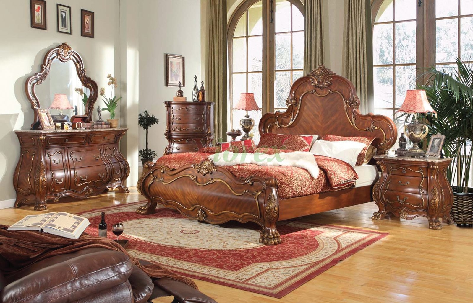 Bedroom Furniture Set 139 W Bombe Dresser Nightstand Amp Chest