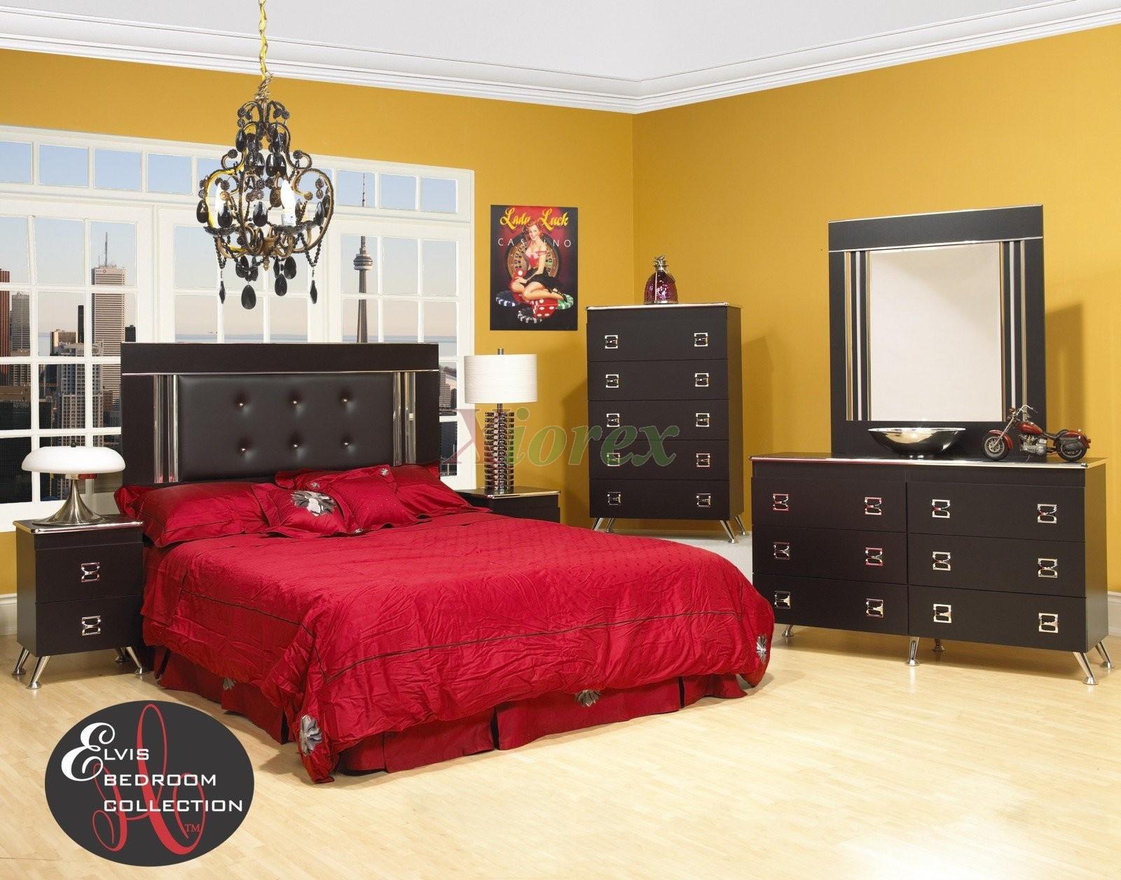 Black bedroom set white bedroom set life line elvis bed - Black or white bedroom furniture ...