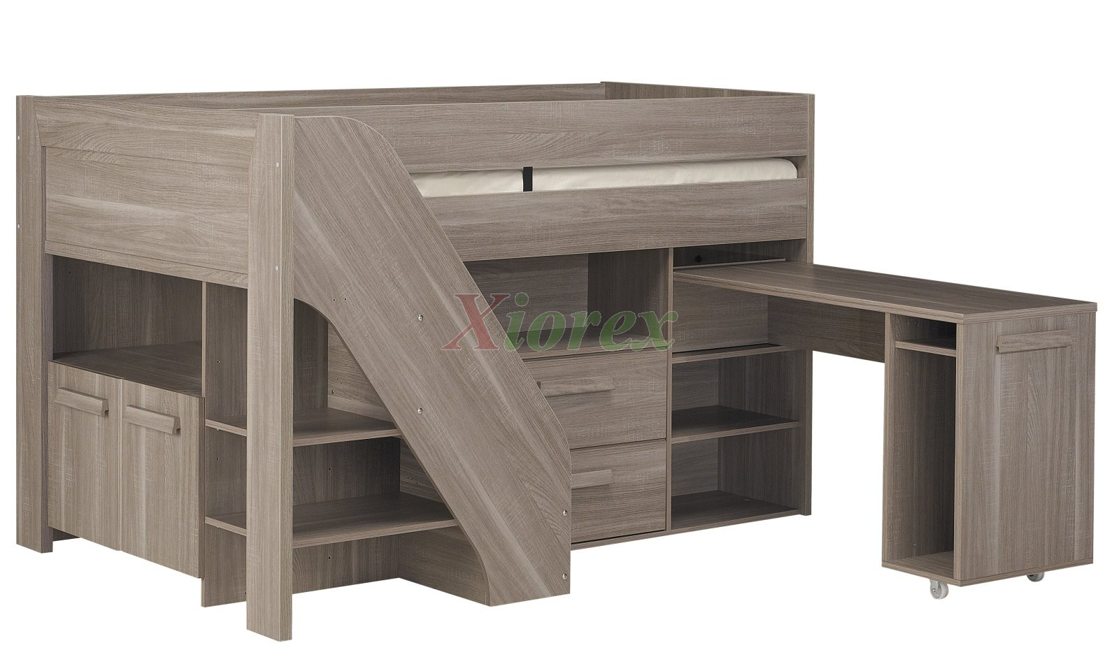 Gami Hangun Youth Cabin Loft Beds With Stairs Amp Desk For