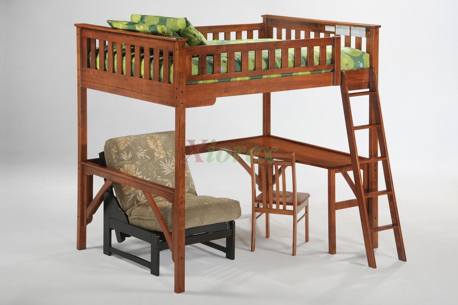 Ginger Twin Amp Full Size Loft Bunk Beds With Desk By Night