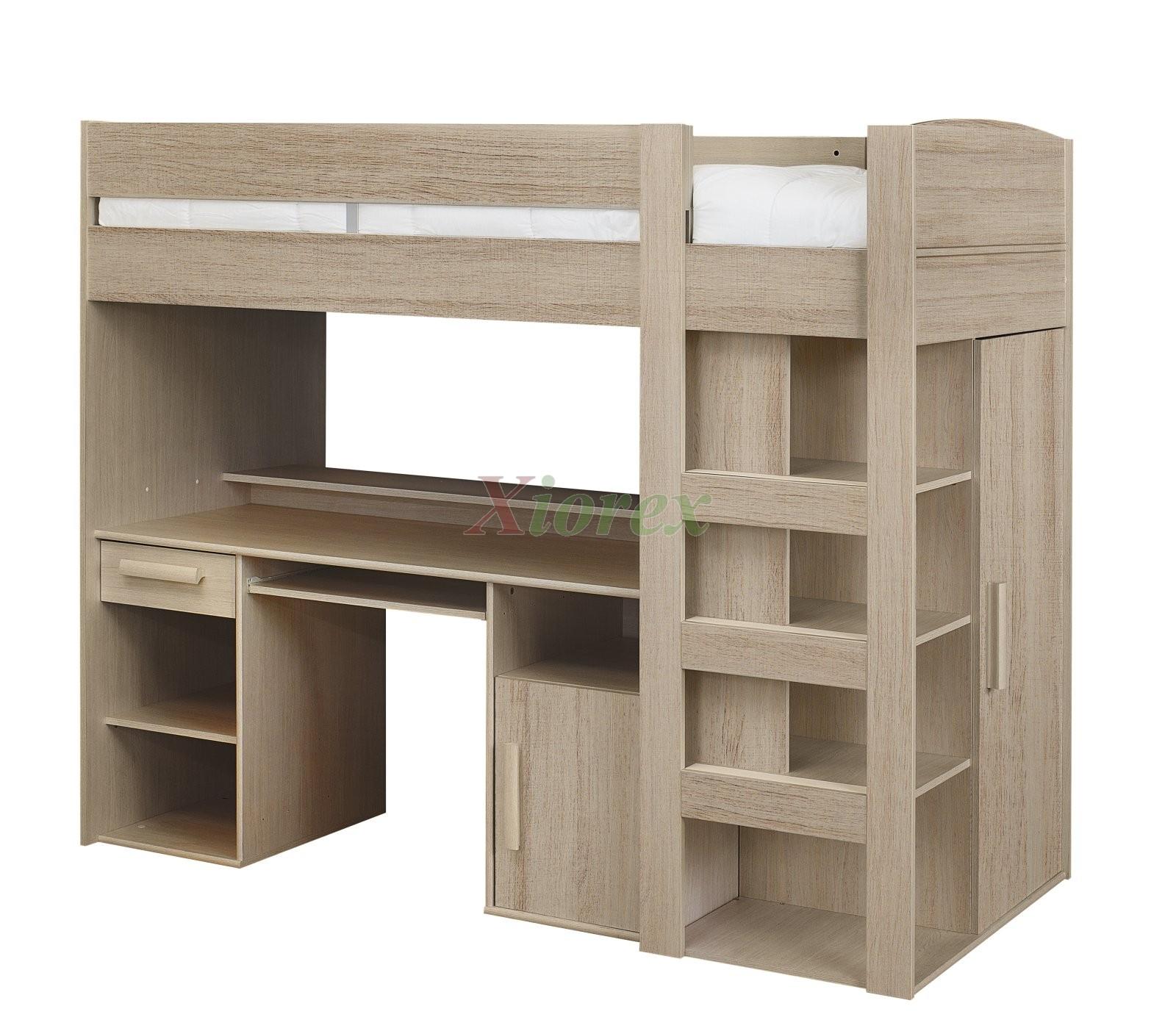 Gami montana loft beds with desk closet storage underneath xiorex - Loft furniture ...
