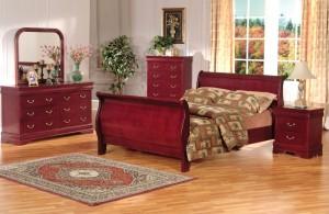Louis Phillip Sleigh Platform Bedroom Furniture Set 168 | Xiorex