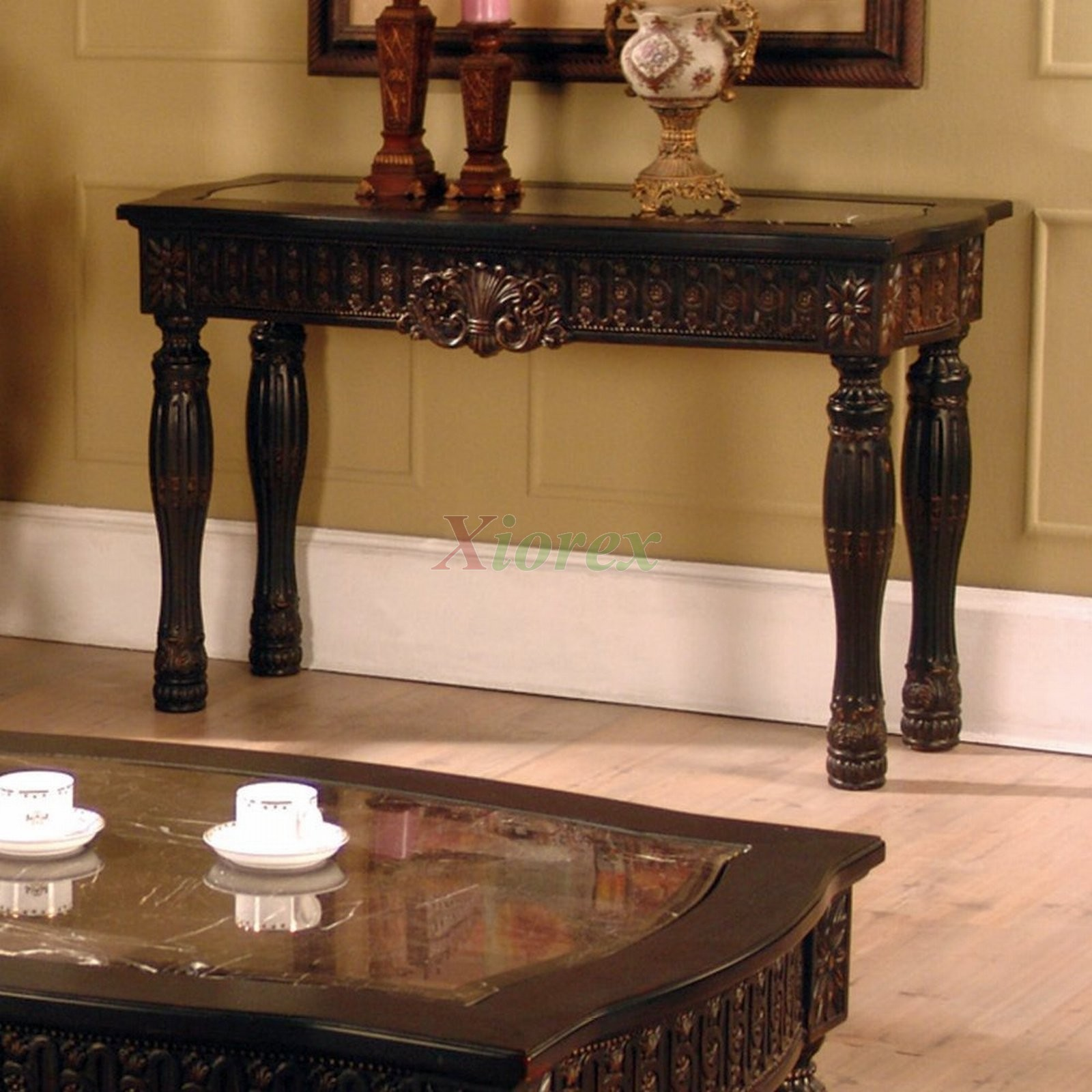 Ajax Faux Marble Inlay Sofa Table Living Space Furniture