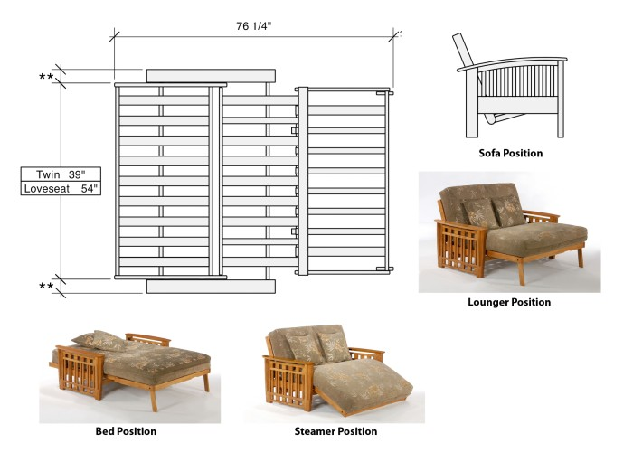 Futon Sizes And Positions Of Twin Lounger Loveseat Xiorex